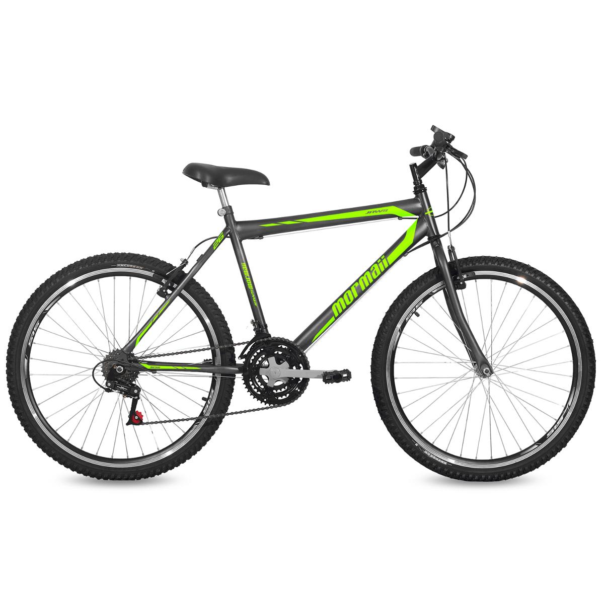 Bicicleta Aro 26 MTB 21V Freio V-Brake Jaws Mormaii