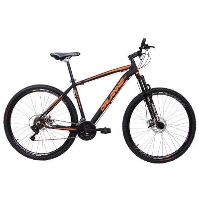 Bicicleta Aro 29 Alumínio 21V Freio a Disco Q19 Hole Preto com Laranja