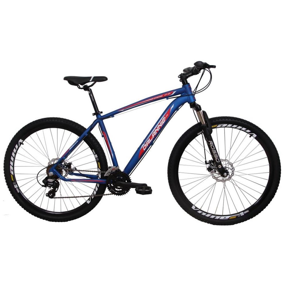 Bicicleta Aro 29 Alumínio 24V Duplo Freio a Disco Trail Azul