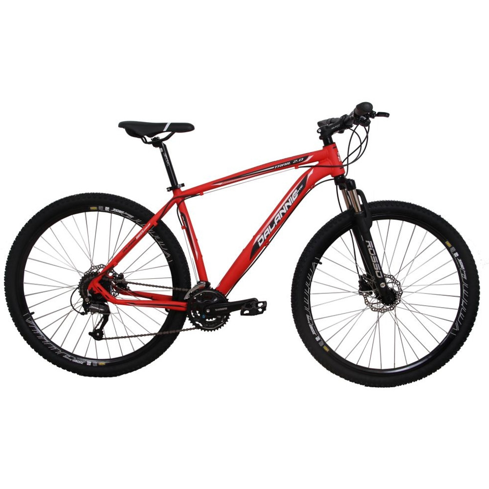 Bicicleta Aro 29 Alumínio 27V Freio Hidráulico Trail Vermelha