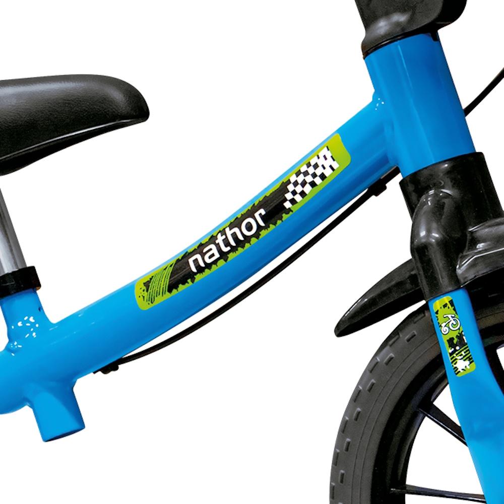 Bicicleta Balance Bike de Equilíbrio sem Pedal Masculina Com Capacete Azul