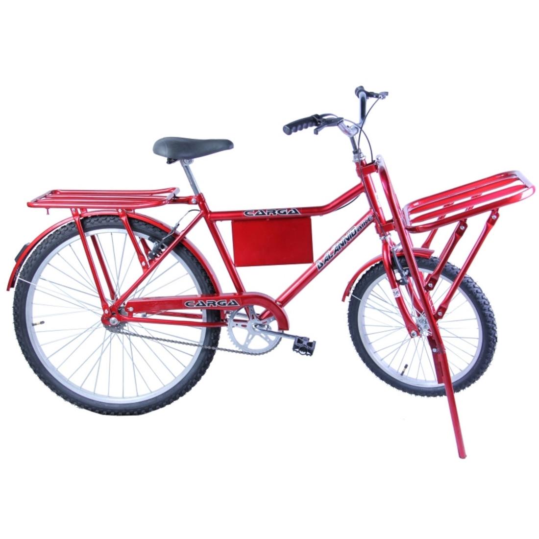 Bicicleta Carga Aro 26 cor Vermelha