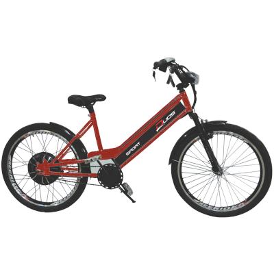 Bicicleta Elétrica 800W 48V 15Ah Sport Cor Cereja