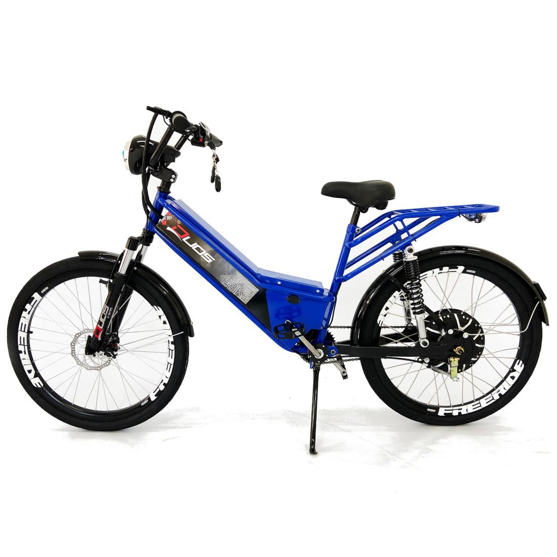 Bicicleta Elétrica com Bateria de Lítio 48V 13Ah Confort FULL Azul