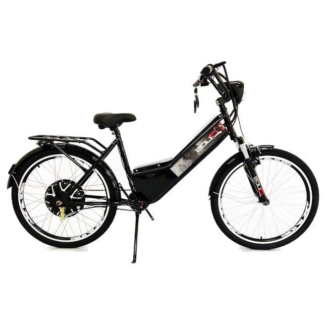 Bicicleta Elétrica Confort 800W 48V 15Ah Preta