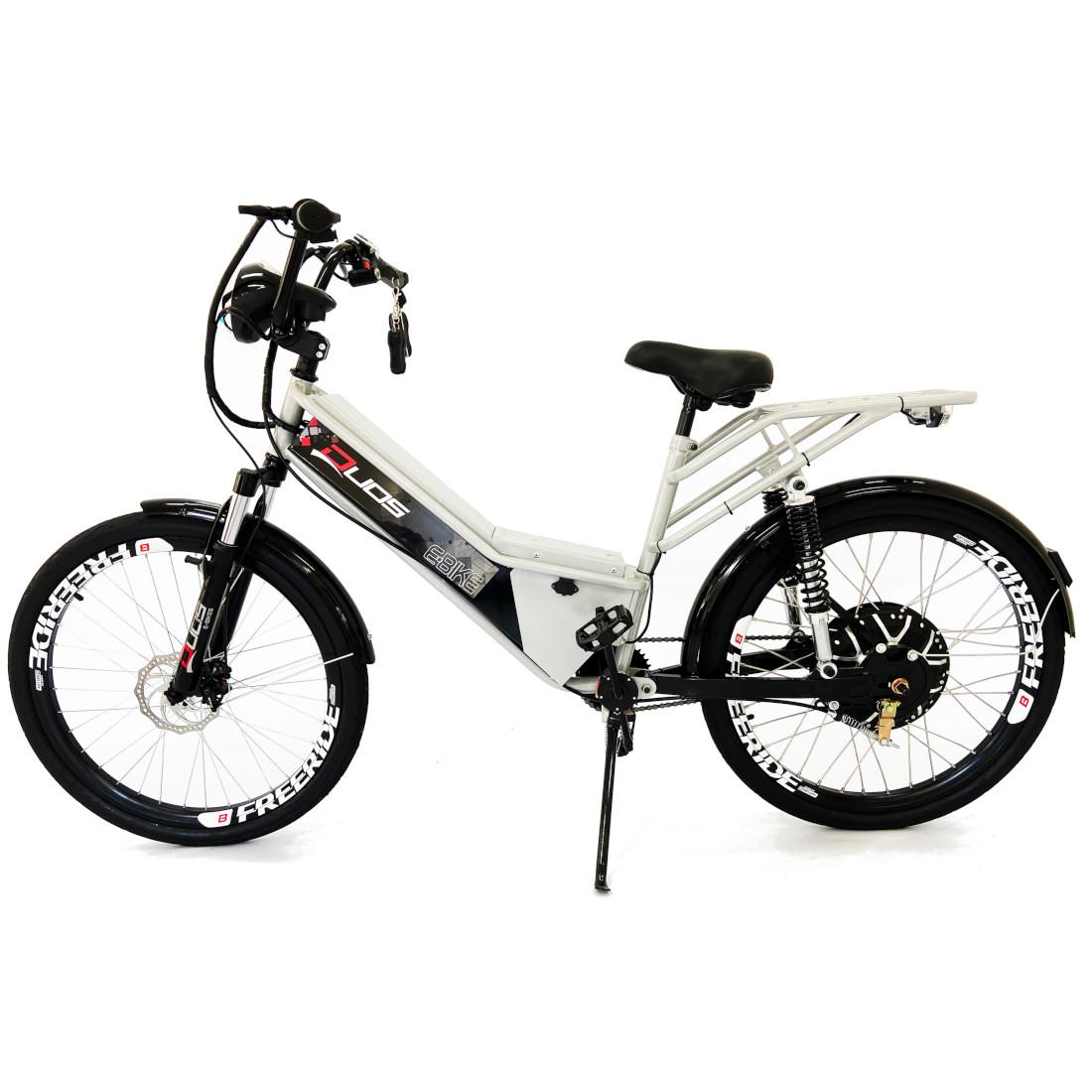 Bicicleta Elétrica Confort FULL 800W 48V 15Ah Cor Prata