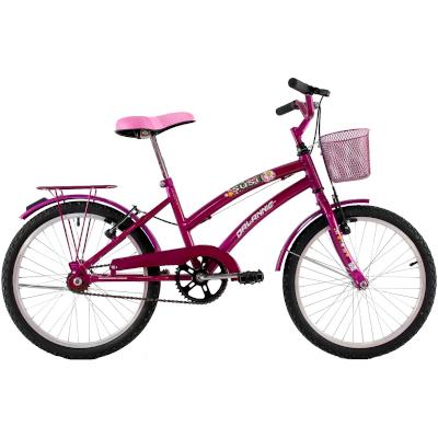 Bicicleta Feminina Aro 20 com cestinha Susi Rosa Verniz