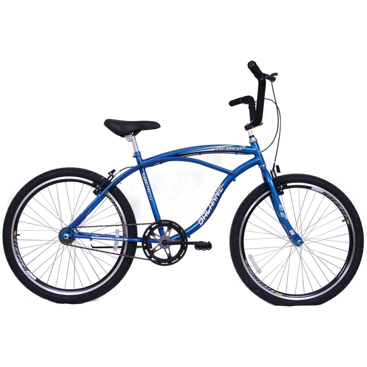 Bicicleta Masculina Aro 26 Beach Azul