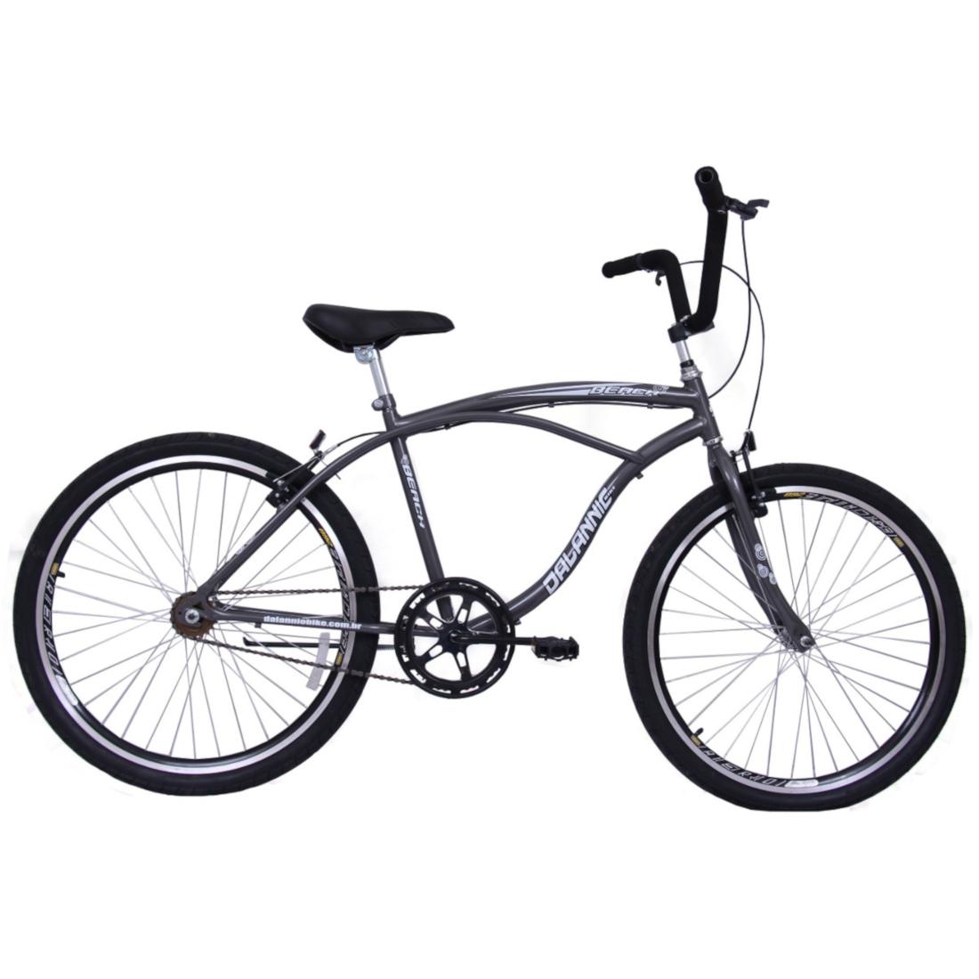 Bicicleta Masculina Aro 26 Beach Grafite