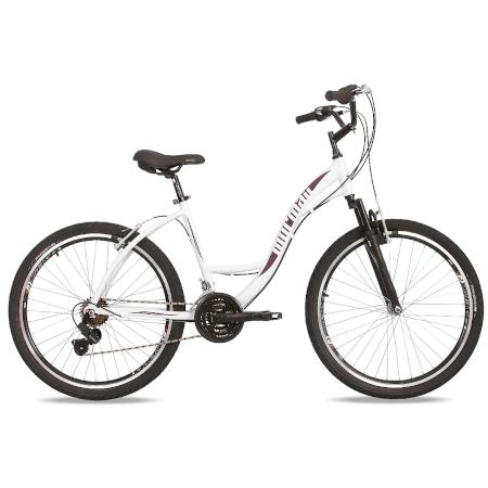 Bicicleta MTB Aro 26 Q18 Alumínio 21V Shimano Suspensão Sunset Way Mormaii
