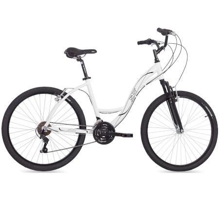 Bicicleta Retrô Aro 26 Alumínio 21V Urbana Branca Cestinha de Vime