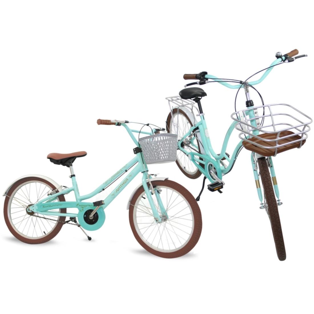 Bicicleta Retrô Vintage Antonella Aro 26 e Aro 20 Kit Mãe e Filha