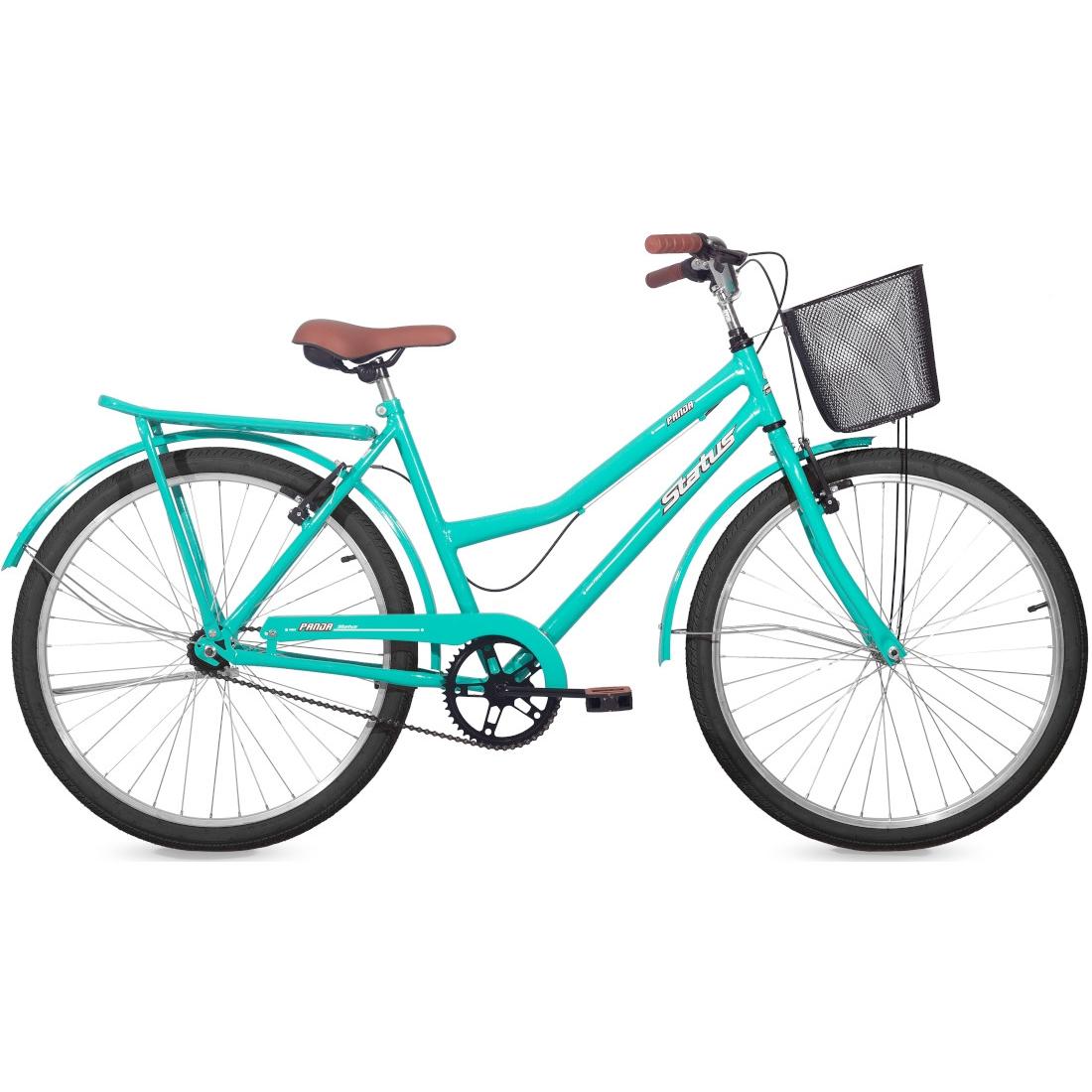 Bicicleta Retrô Vintage Aro 26 V-Brake Panda Azul Tok Stok