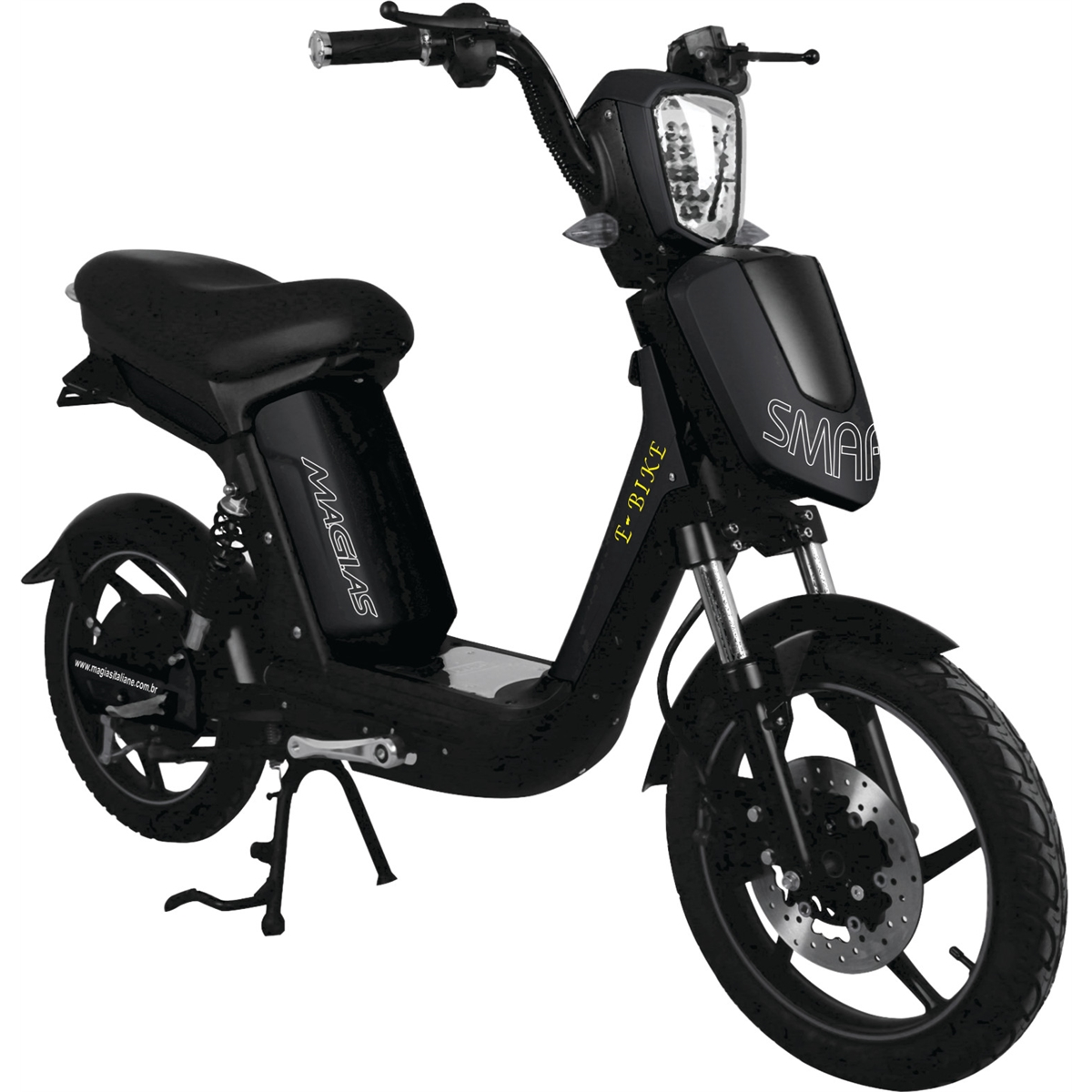 Bicicleta Scooter Elétrico Modelo SMARTY Cor Preta