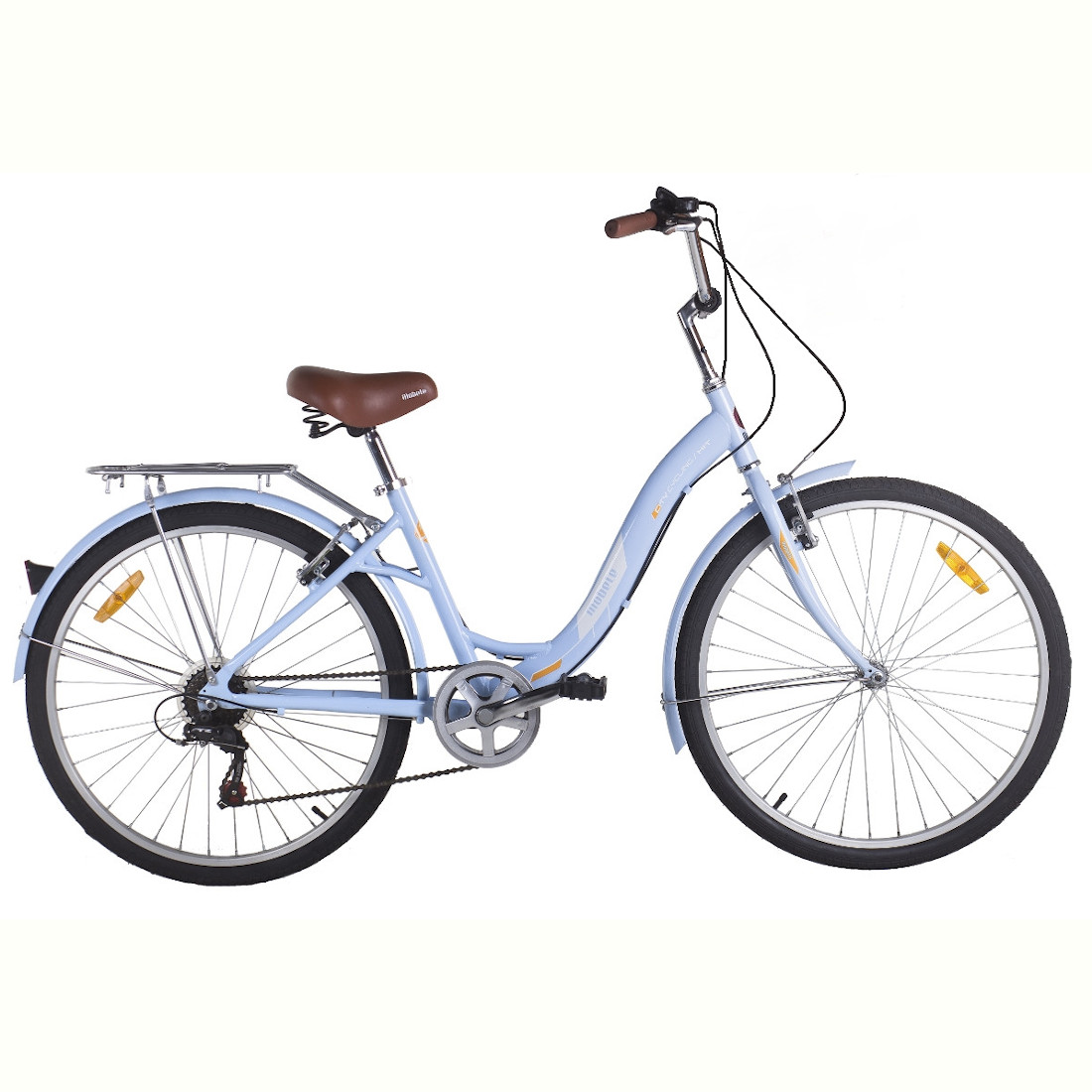 Bicicleta Vintage Retrô Aro 26 Alumínio 7V Azul Hit City Mobele