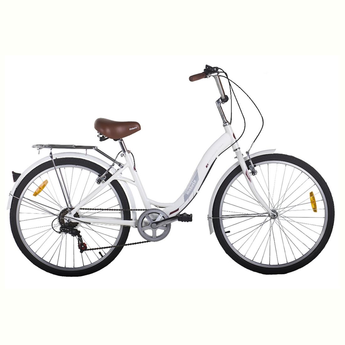 Bicicleta Vintage Retrô Aro 26 Alumínio 7V Branca Hit City Mobele