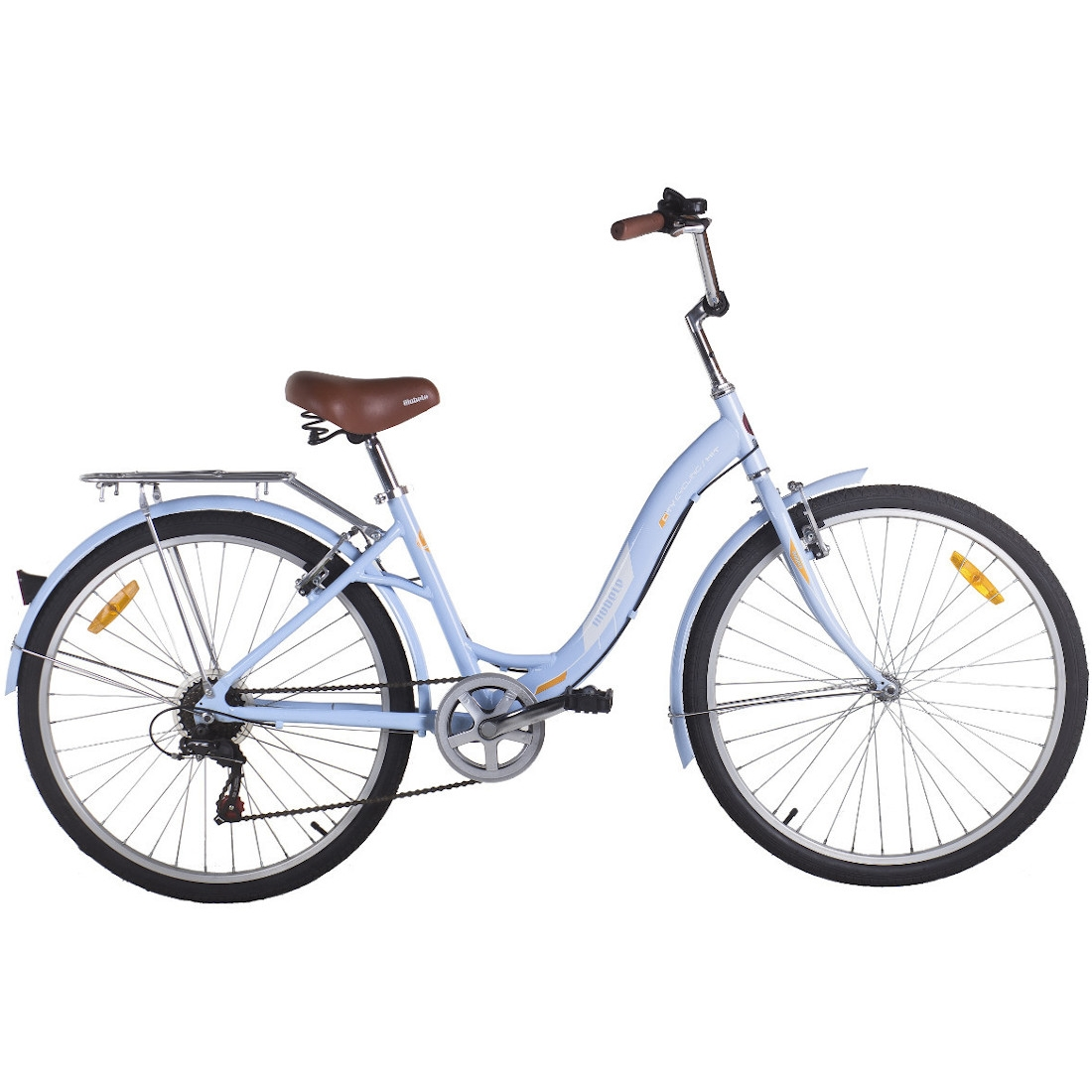 Bicicleta Vintage Retrô Hit Aro 26 7V Shimano Azul Mobele