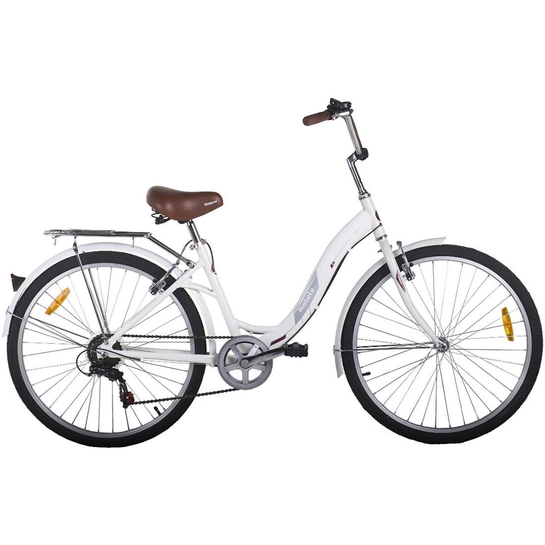 Bicicleta Vintage Retrô Hit Aro 26 7V Shimano Branca Mobele