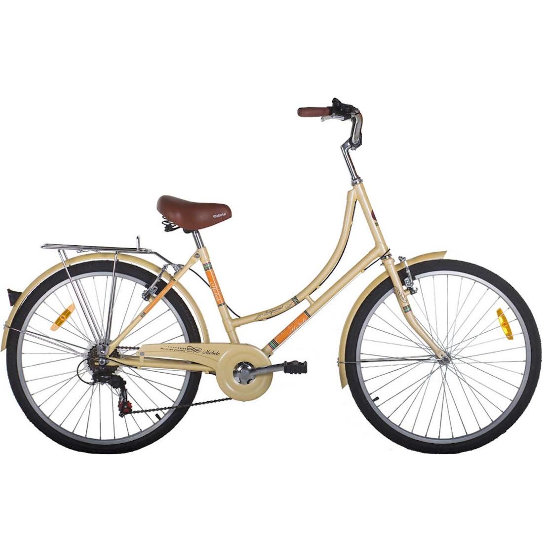 Bicicleta Vintage Retrô Imperial Aro 26 7V Shimano Bege