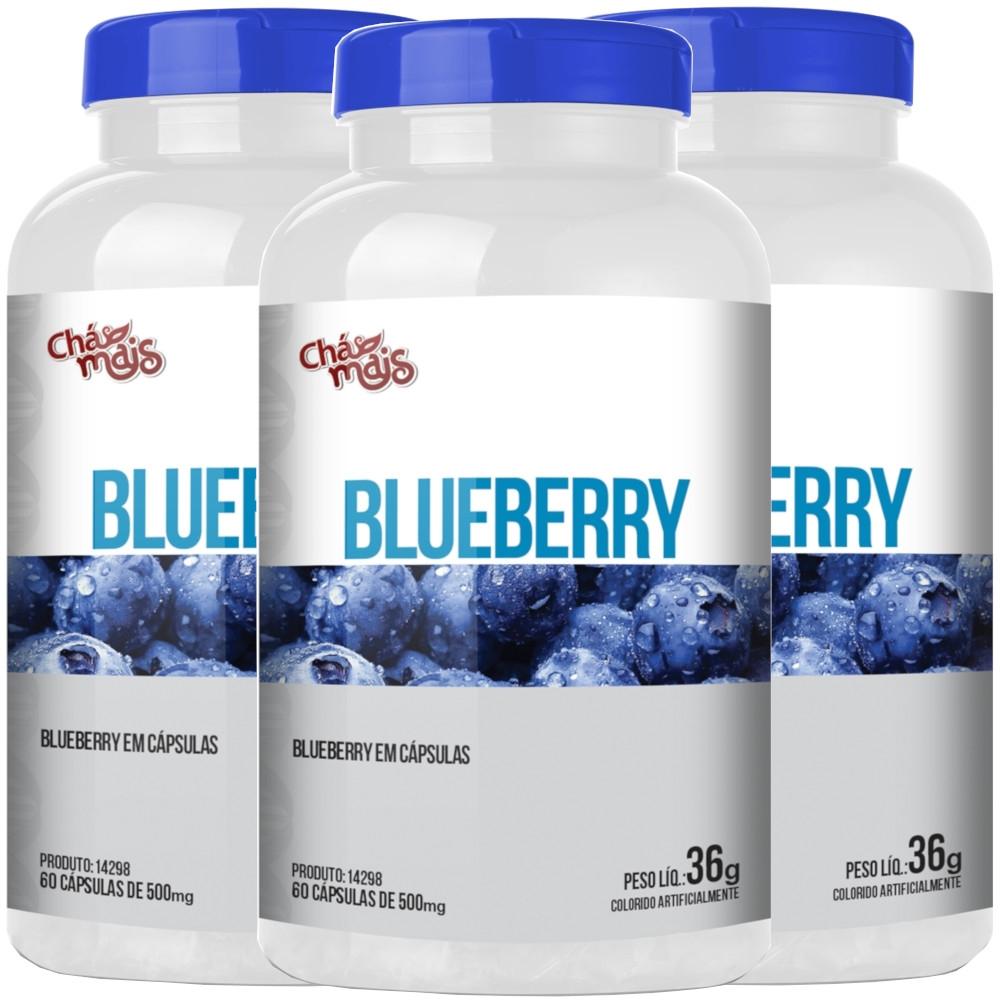 Blueberry Mirtilo 60 cápsulas Kit com 3