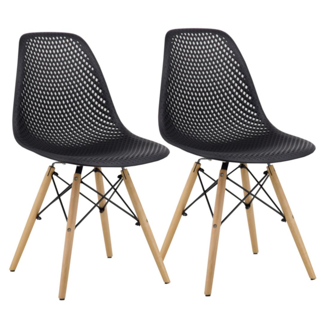 Cadeira Eloá Original Rivatti Releitura Charles Eames Eiffel Kit com 2