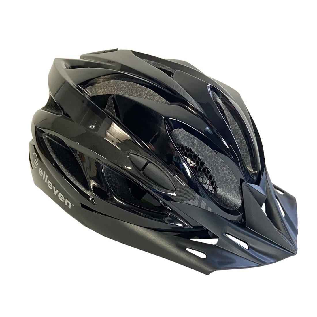 Capacete Adulto Ciclista Bike Viseira e LED Inmold M Preto