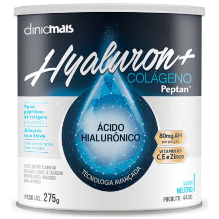 Colágeno Peptan + Ácido Hialurônico Hyaluron Instantâneo Neutro 275g