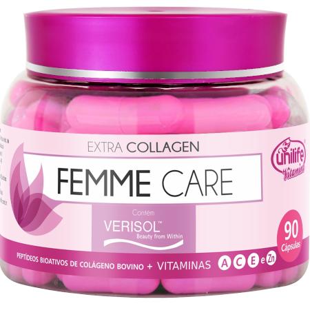 Colágeno Verisol Peptídeos Femme Derm Care + Vitaminas 90 Cápsulas