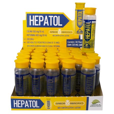 Hepatol Colina e Metionina para Fígado - 30 Flaconetes de 10 ml cada