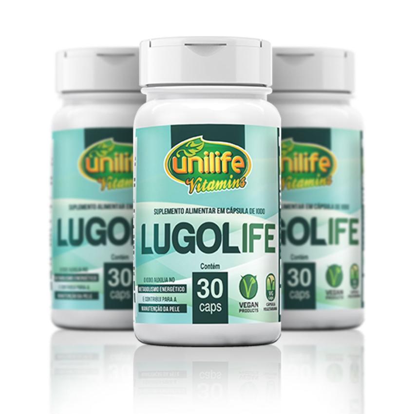 Lugol Lugolife Suplemento Alimentar de Iodo 30 Cápsulas de 450mg Kit com 3