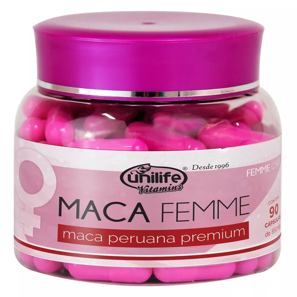Maca Peruana Femme Care Premium 90 cápsulas 550mg
