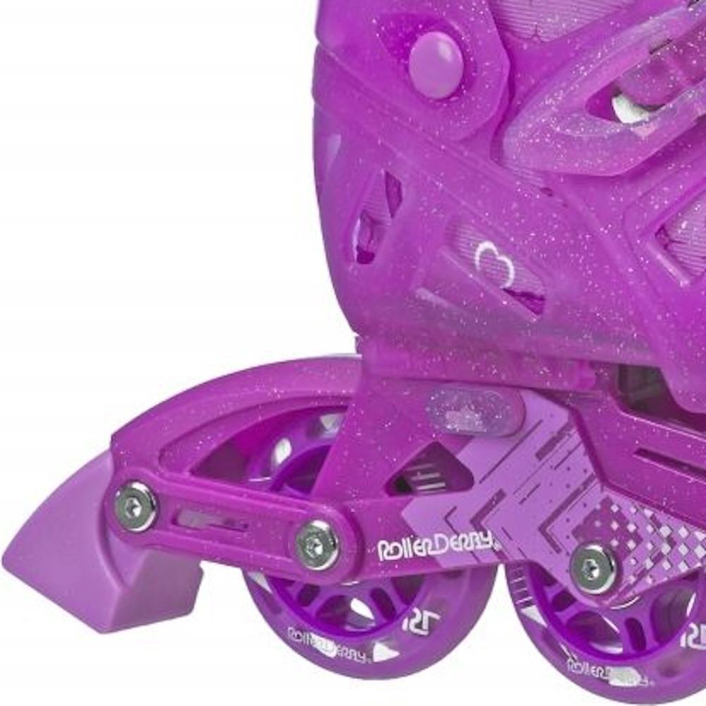 Patins Infantil Tracer Girl Para Meninas Ajustável P 32 a 35 - Roller Derby
