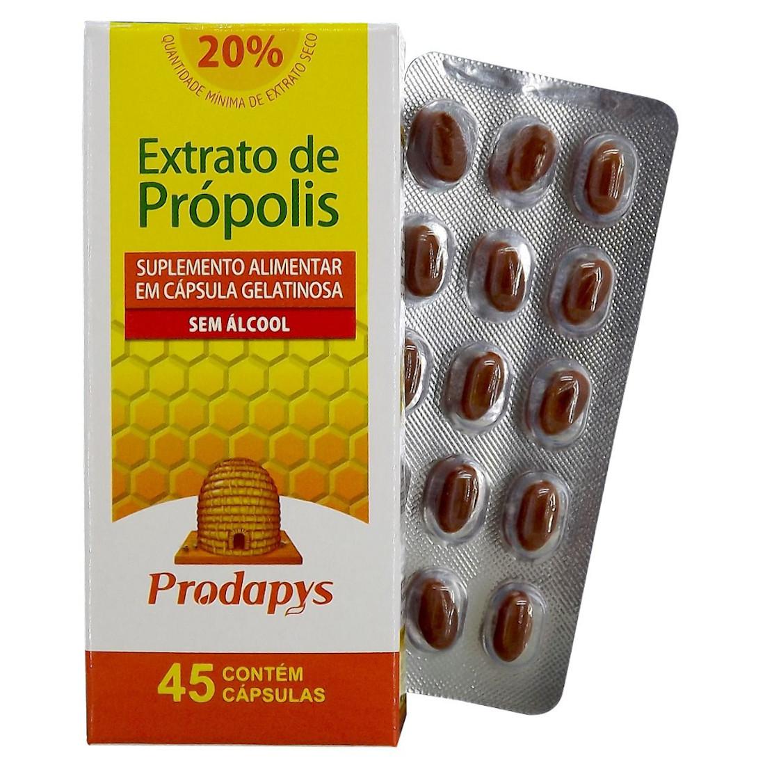Própolis Marrom - Suplemento Alimentar 45 Cápsulas sem Álcool