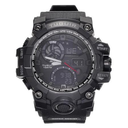 Relógio Masculino 10ATM Analógico e Digital TG108 Preto
