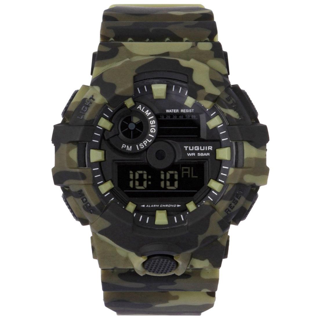 Relógio Masculino Digital TG127 Verde Camuflado