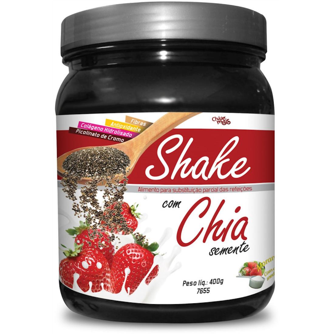 Shake de Emagrecimento Semente de Chia  Morango 400g
