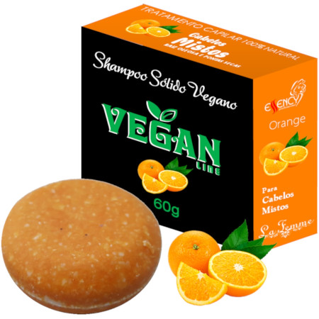 Shampoo Sólido em Barra  Vegan Line-Laranja