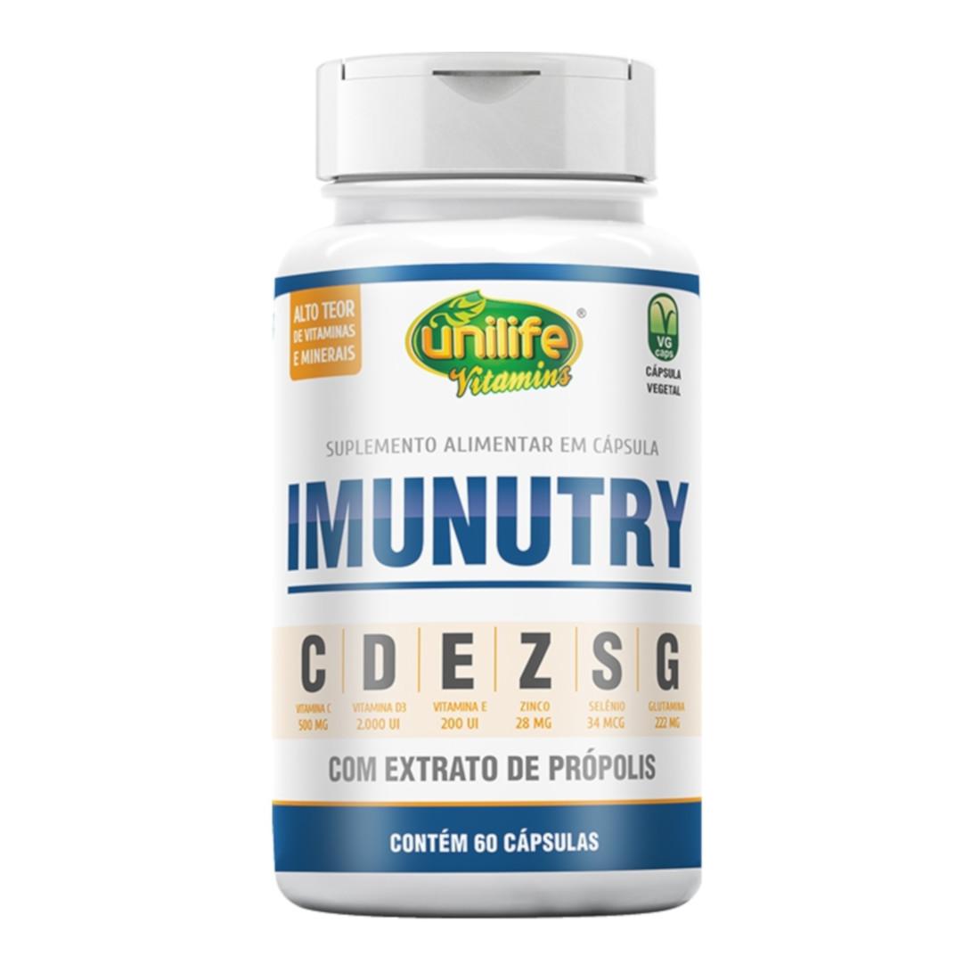 Suplemento com Extrato de Própolis e Vitaminas IMUNUTRY 60 cápsulas