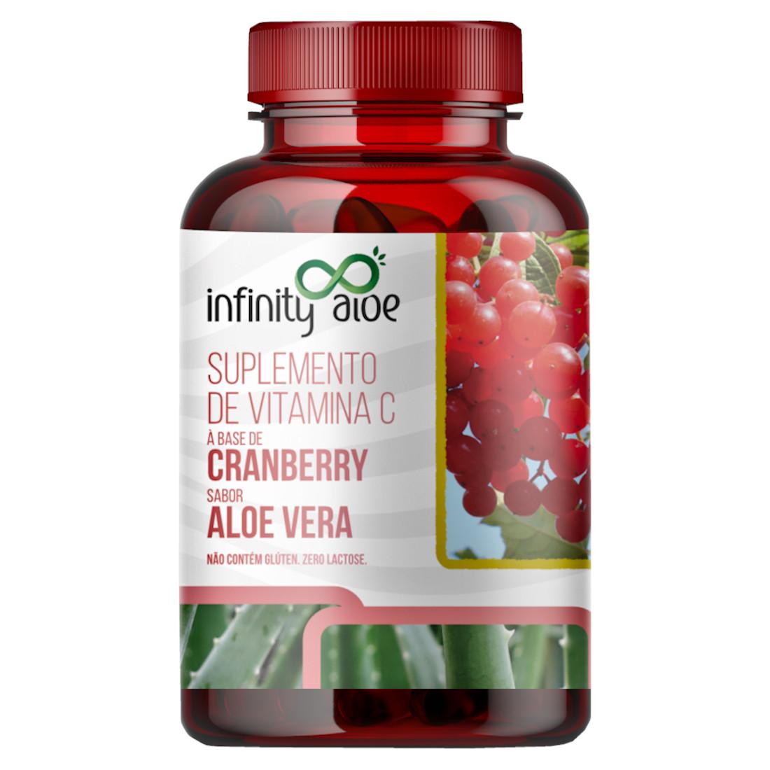 Suplemento de Vitamina C Babosa (Aloe Vera) e Cranberry 60 cápsulas