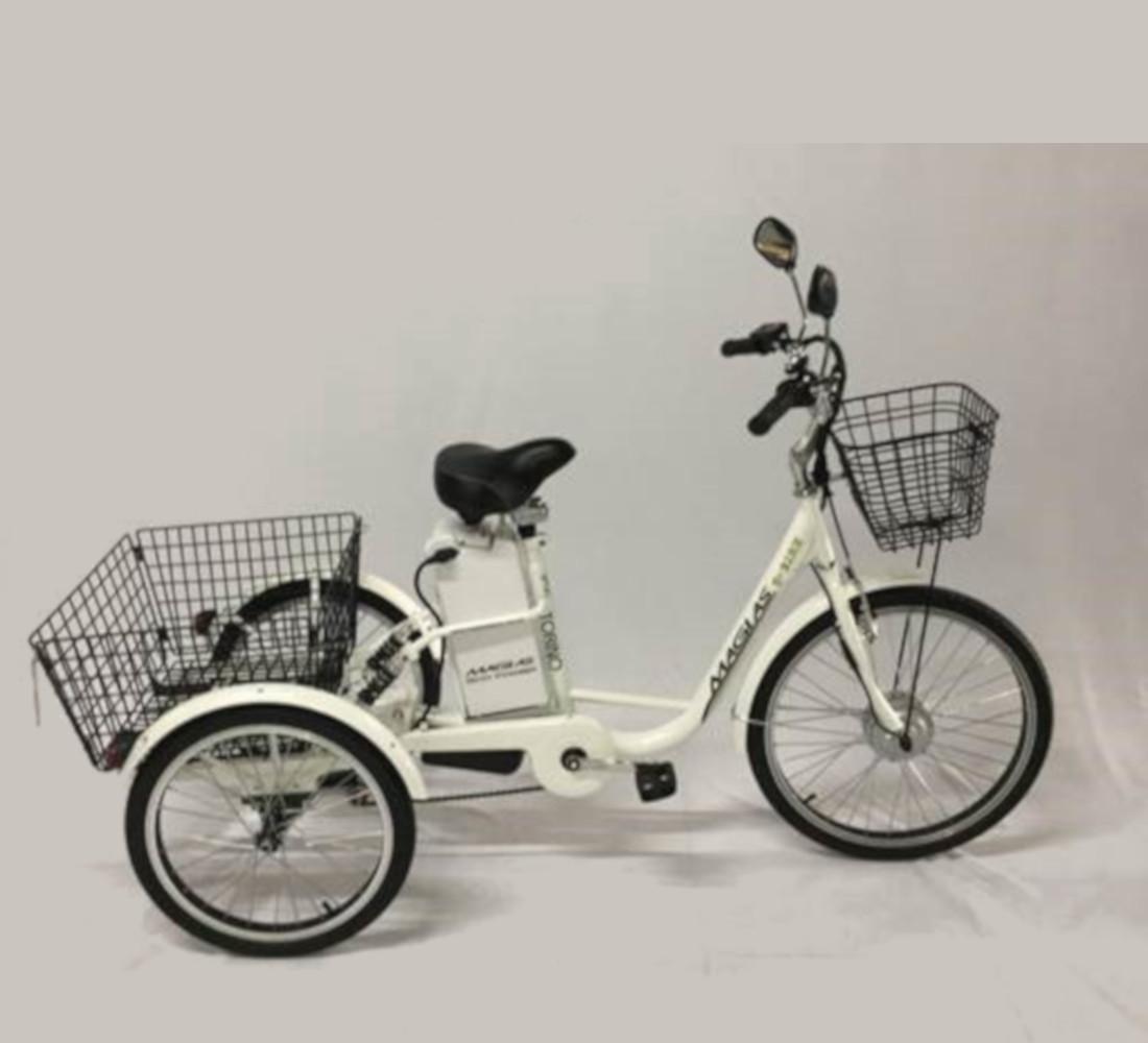 Triciclo Elétrico 350W Torino com Cestinha Branco