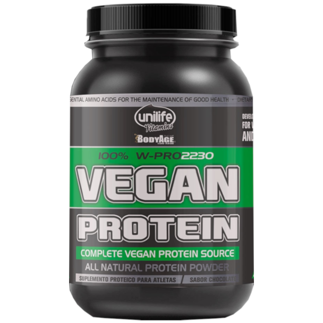 Whey Protein Vegan 22g PROTEÍNA VEGANA Sabor Chocolate  900g