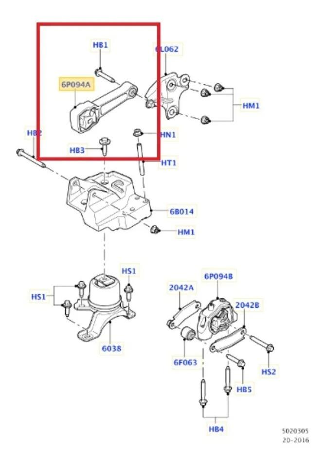 COXIM SUP MOTOR LD EVOQUE FREELANDER 2 DISCOVERY XC60 XC70 (BIELA)