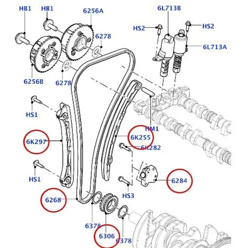 KIT CORRENTE MOTOR EVOQUE 2.0 (PARCIAL)
