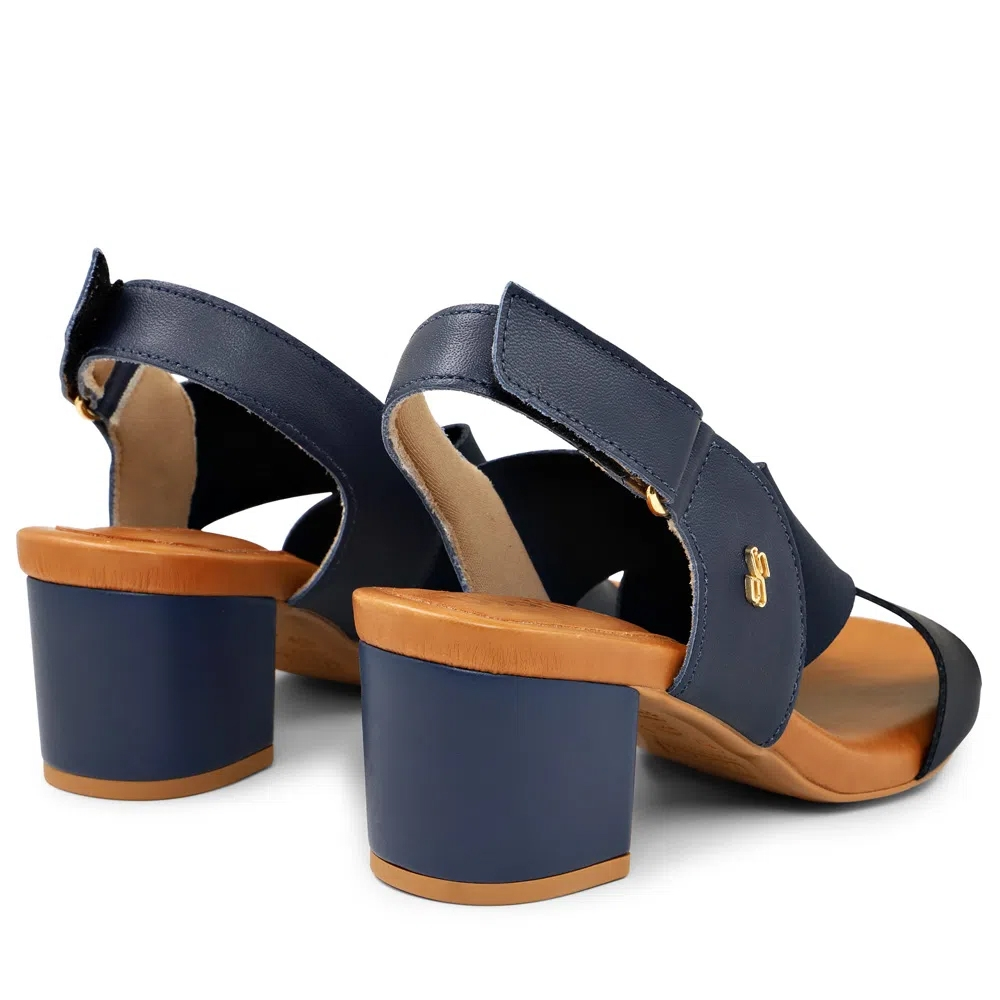 Sandália Salto Bloco Calce Fácil Usaflex AG0303