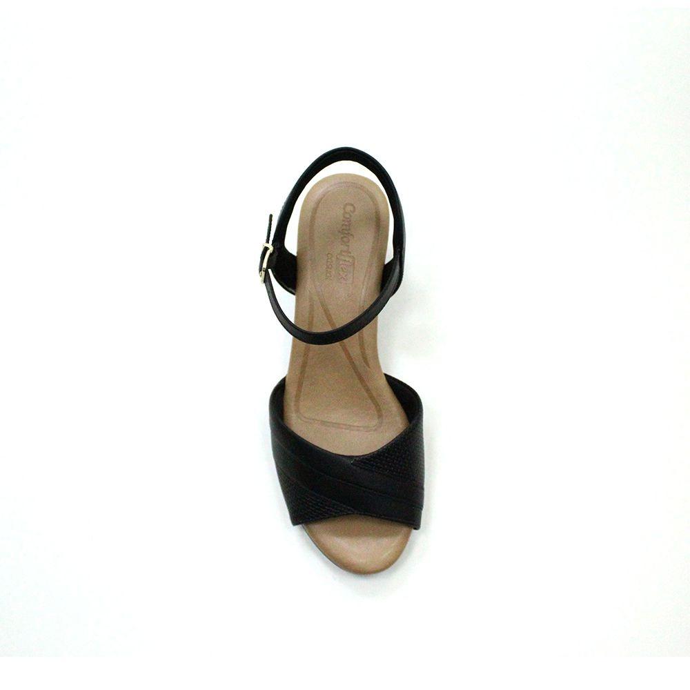Sandália salto médio Comfortflex