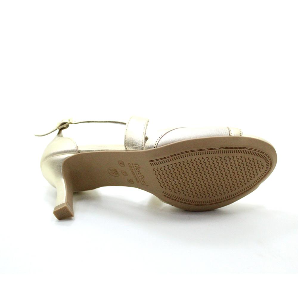 Sandália salto médio conforto Usaflex