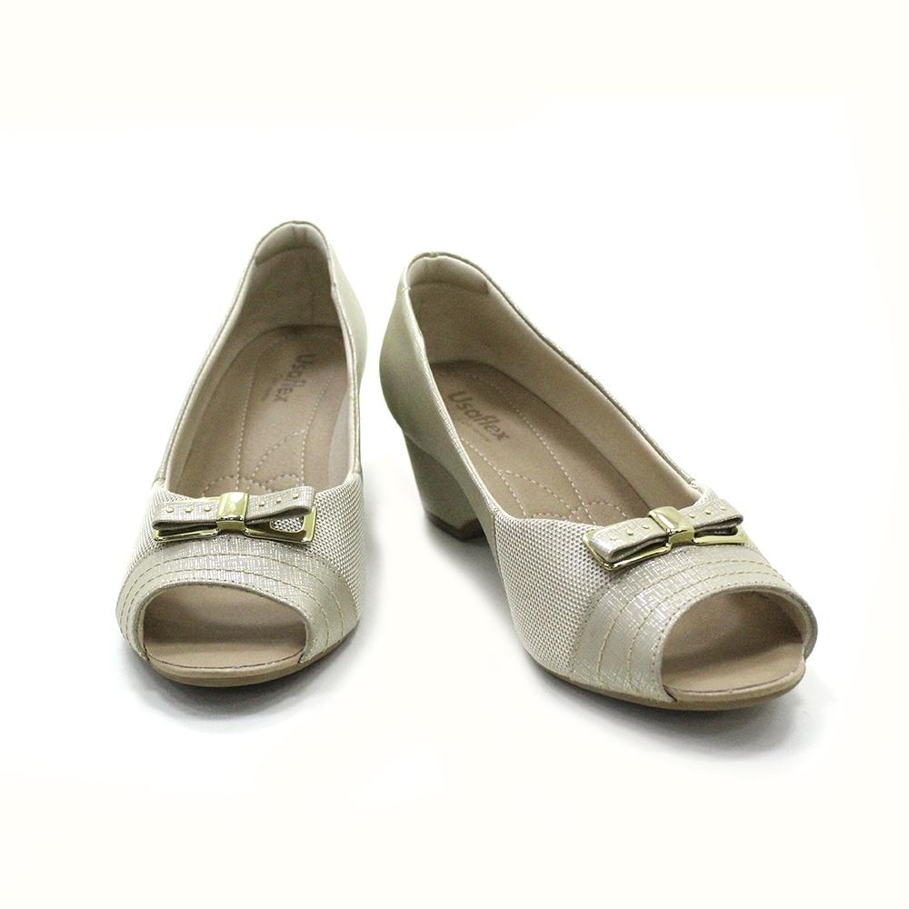 Sapato Peep Toe Usaflex