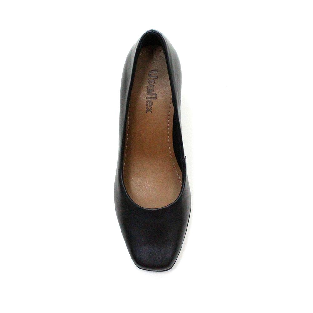 Sapato salto médio conforto Usaflex