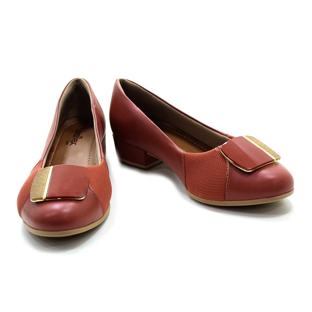 Sapato Usaflex Salto Baixo Joanetes AE4702