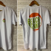 Camiseta T-Shirt Beach Tennis Bola 2 - Branca
